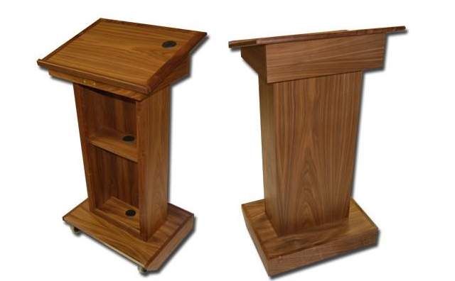 oak wood podium