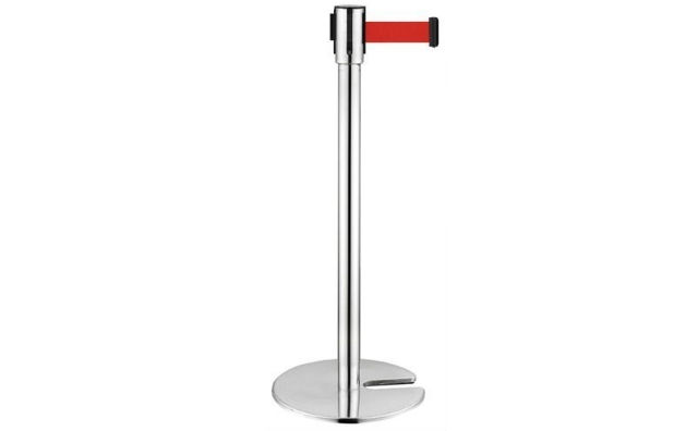 Chrome Stanchion with Red Belt