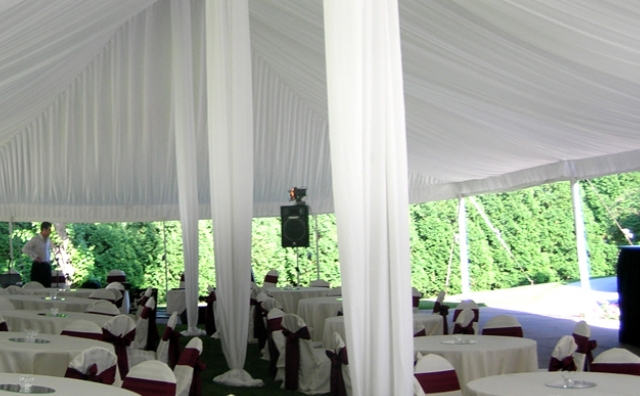 central king pole drape