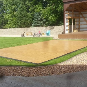 Outdoor dance floor for a concert