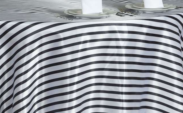 black and white stripes linen