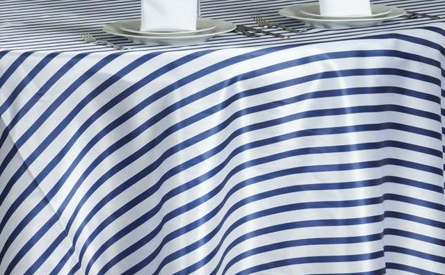 navy blue and white stripes linen