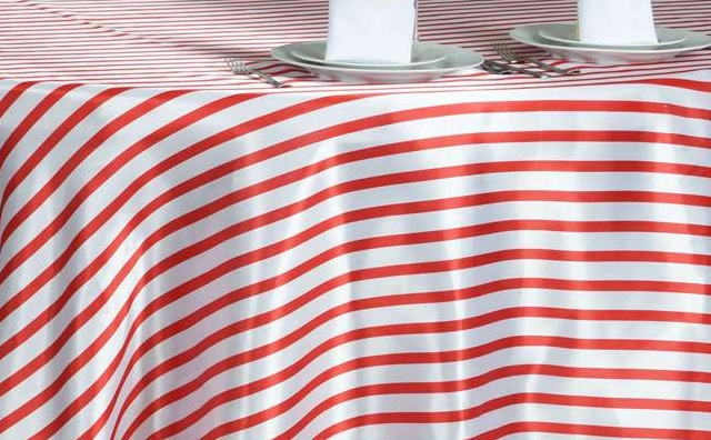 red and white stripes linen