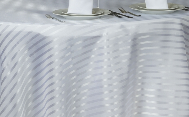 white and white stripes linen
