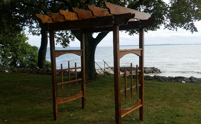 wedding pagoda on lake erie